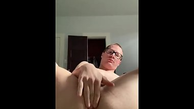 Showing off and using a dildo w/ cumshot