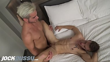 JockPussy - FTM Luke Hudson given hot facial after stud bareback fuckjockpu