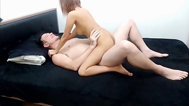 Sexy Gaming Couple - Romantic Sex on cam with creampie ending sample vid