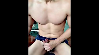 Thai sexy man horny swing his cock and jerk off