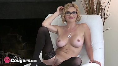 Delicious Nicole Ray giving head and riding on massive cock
