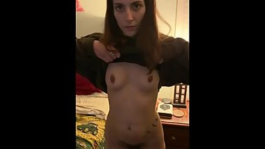 My slave shaves her pussy.....