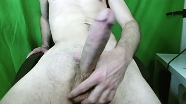 Playing with Huge Cock and Cumming Biggest Load on Cam with Audio (ASMR)