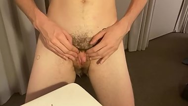 FTM huge dick clit humps table - Preview