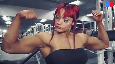 Bicep flexing compilation (Female muscle)