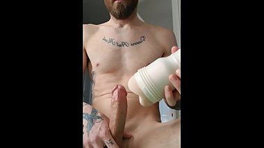 Happy New years!! Fucking my new Fleshlight. Hard shaking orgasm!!