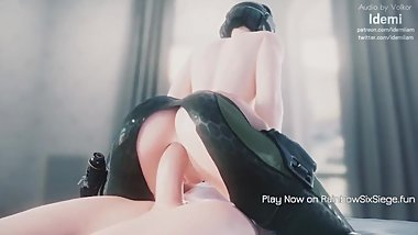 RAINBOW SIX SIEGE WHITE ASS OF GIRL FUCKED BY BIG DICK GUY 3D HENTAI