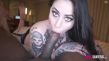GOTHIC CHIC OPHELIA RAIN DEVOURS BBC WITH ORAL CREAMPIE