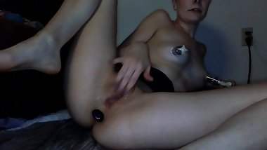 Teasing my Tits and Suction Cupping My Nipples
