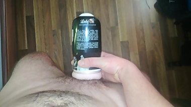 Jerking off with Lady Dee fleshlight, ruined orgasm and continue!