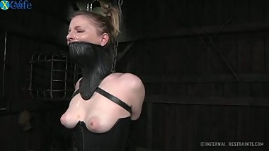 Amazingly Horny Chick In A Black Mouth Corset Cries Receiving Punishment