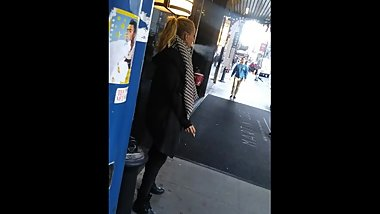 Old bitch sucking on the cig like her life depends on it.