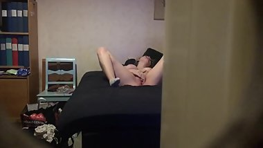 Step Sister Caught on Camera Masturebating In My Bed (Home from work early)