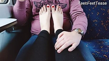 Foot Fetish JOI Playing with gf Feet