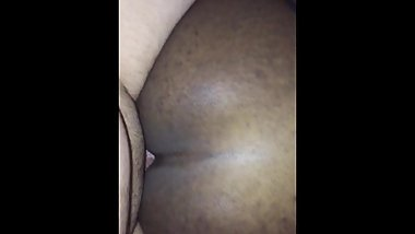 Phat booty Ebony Sissy taking thick alpha cock