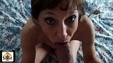 Sexy Dark Haired Milf Pleases A Big Veiny Cock