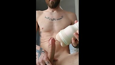 Happy New Years!!! Fun with my new Fleshlight. Hard shaking orgasm!!