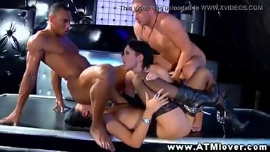 Hot russian foursome rimjob and fuck