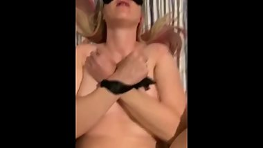 Mom tied up by dad and leaves stepson walks in and fucks her
