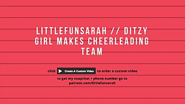 DIRTY TALK // DITZY CHEERLEADER GET HELP FROM COACH