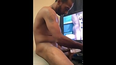 Fleshlight play watching new fav porn
