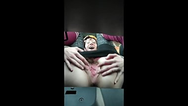 Road Trip Car Masturbation and Hotel Pee