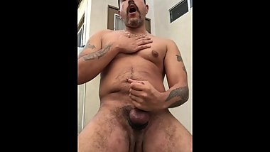 Jacking off while my wife is out.