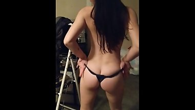 Sexy Teen Stipper Puts on a show and rubs my cock against her