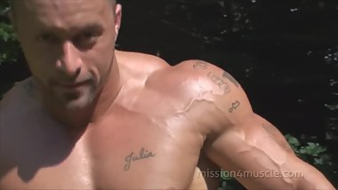 Muscle Stud Nico Flexing at Audition
