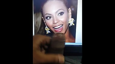 Beyonce CUM TRIBUTE swallow