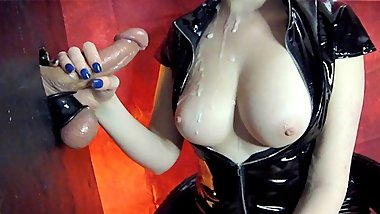 Sensual Gloryhole Edging Torture & Nail Teasing (Cumshot On Tits)