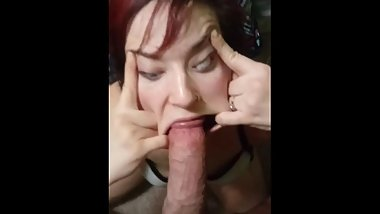 Told slut to make her face look as STUPID as possible and I came on it
