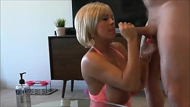 Horny mature stepmom having fun with her stepson