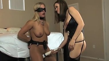 Mistress Temporarily Releases Her Slave From Chastity To Tease And Deny Her