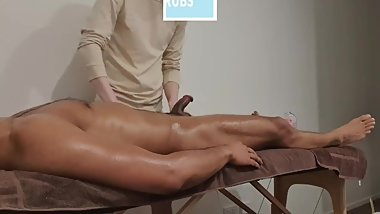 MUSCULAR HOT GUY CAME OVER FOR A HAPPY ENDING MASSAGE