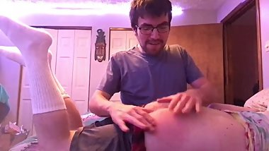 Straight College Bros Dared to Spank Each Other