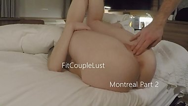 Making a mess in a Montreal hotel Part 2 - FitCoupleLust
