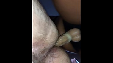 Pegging stroke game strong.... hairy bitch boy loving it