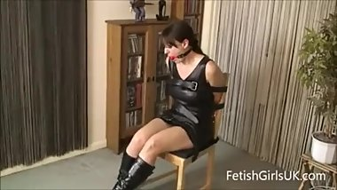 Leather Chair Tied