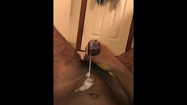 Thick Cum Dripping Out Of My Cock