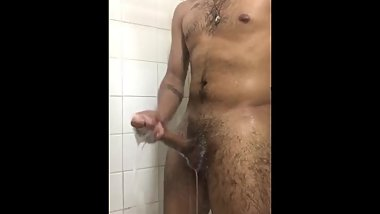 Caught Jerking off in the shower.