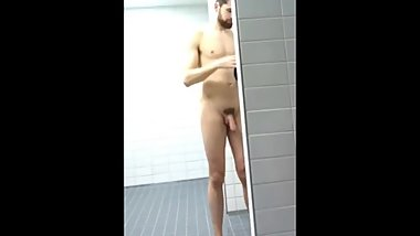 Bearded Hunk Shower Spycam