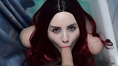Perfect POV Blowjob from Sexy Redhead - Eye Contact