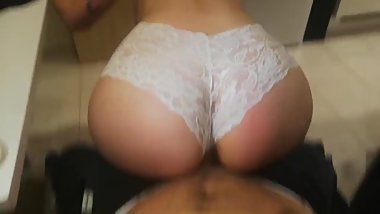She loves riding dick & big creampie : her creamy pussy is dripping! POV