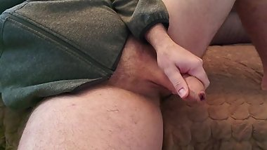 Jerking off big cock to you
