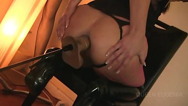 Anal Fucking Machine with thigh high boots on (preview)
