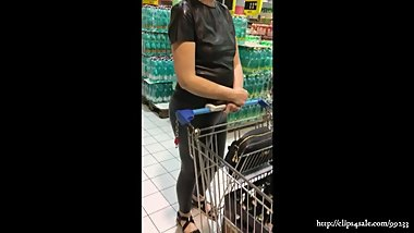 Wife shopping in leather