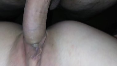 Fucking my ex in her tight ass. Swallows cum like a good girl