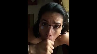 My secretary sucking my dick