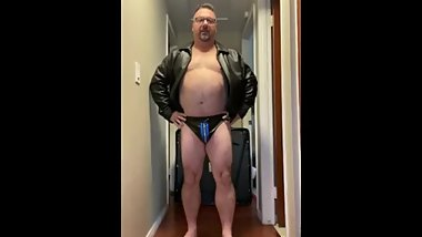 Luvbennude wears some leather